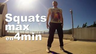 Combien de Squats en 4min ? – Challenge Débutant